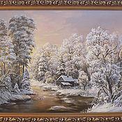 """Картины и панно ручной работы. Ярмарка Мастеров - ручная работа """" Зимнее утро"""". Handmade."""