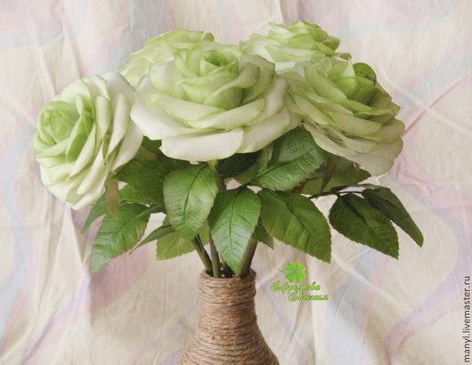Цветы ручной работы. Ярмарка Мастеров - ручная работа. Купить Розы из полимерной глины. Handmade. Зеленый, интерьерная композиция