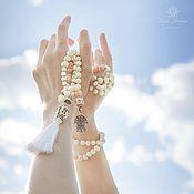 Украшения handmade. Livemaster - original item Pearl Mala Beads with a brush of 108 beads. Handmade.