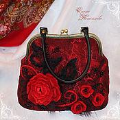 Сумки и аксессуары handmade. Livemaster - original item Bag Seville felted wool. Handmade.