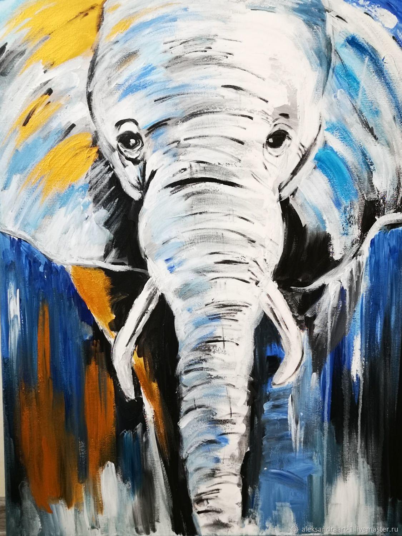 Слон, Картины, Санкт-Петербург,  Фото №1