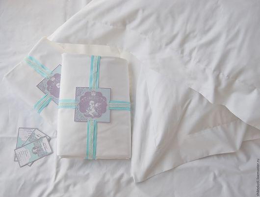 Текстиль, ковры ручной работы. Ярмарка Мастеров - ручная работа. Купить Комплект постельного белья из сатина белого люкс. Handmade.