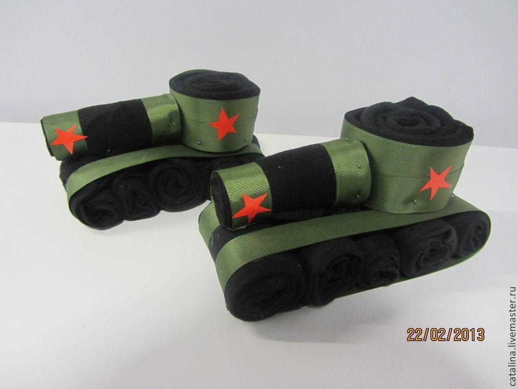 Как сделать танк из носок