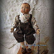 Куклы и игрушки ручной работы. Ярмарка Мастеров - ручная работа Кукла Андрюшка с лошадкой.. Handmade.