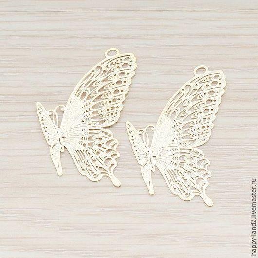 Для украшений ручной работы. Ярмарка Мастеров - ручная работа. Купить Подвеска бабочка,  2 покрытия, Южная Корея. Handmade.