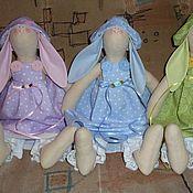 Куклы и игрушки ручной работы. Ярмарка Мастеров - ручная работа Пасхальные зайки. Handmade.
