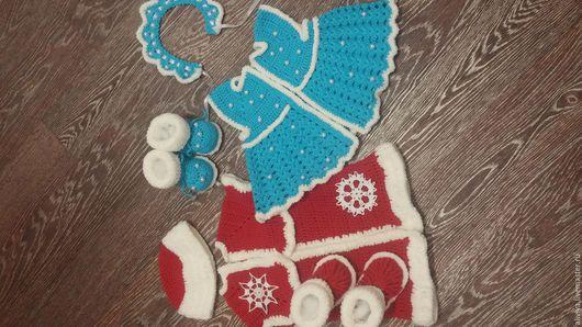Дед Мороз и Снегурочка для королевской двойни. 3 мес.