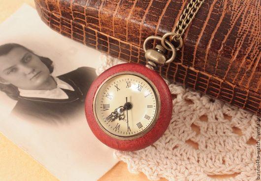 Для украшений ручной работы. Ярмарка Мастеров - ручная работа. Купить Часы-подвеска №23 Деревянный шар. Handmade. Часы