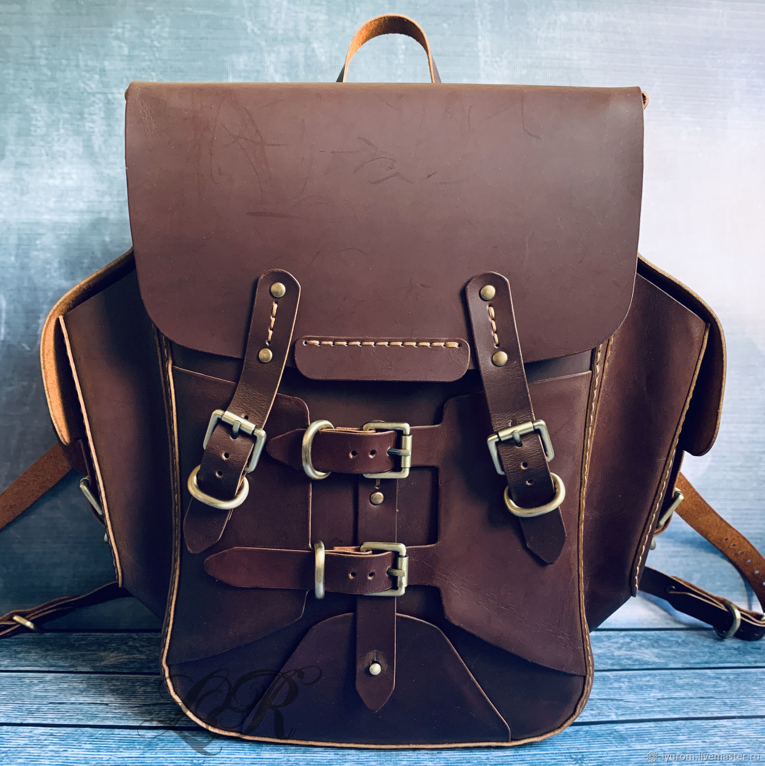 Leather backpack ' Steampunk', Backpacks, Moscow,  Фото №1