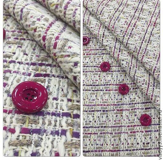 Шитье ручной работы. Ярмарка Мастеров - ручная работа. Купить Шанелька с розовой нитью 2 расцветки. Handmade. Фиолетовый