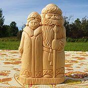 Для дома и интерьера handmade. Livemaster - original item Figurine Grandfather frost and snow maiden. A gift for the New year. Handmade.