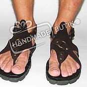 Обувь ручной работы manualidades. Livemaster - hecho a mano Sandalias para Hombre de cuero y gamuza bajas. Handmade.