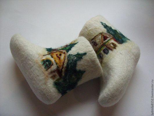 """Обувь ручной работы. Ярмарка Мастеров - ручная работа. Купить Валенки детские """"Зима"""". Handmade. Валенки ручной валки, зима"""