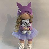 Куклы и пупсы ручной работы. Ярмарка Мастеров - ручная работа Текстильная кукла ручной работы с мишкой тедди. Handmade.