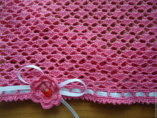 Шапки и шарфы ручной работы. Ярмарка Мастеров - ручная работа. Купить Летняя косынка для девочки. Handmade. Коралловый, хлопок мерсеризованный