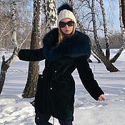 Одежда handmade. Livemaster - original item Fur coat beaver and the silver Fox. Model