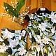 Платья ручной работы. Заказать Платье летнее из хлопка Орхидеи на белом. Biserova. Ярмарка Мастеров. Платье, хлопок, розовый