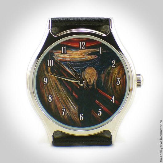 """Часы ручной работы. Ярмарка Мастеров - ручная работа. Купить Часы наручные """"Крик"""". Handmade. Часы, наручные часы"""