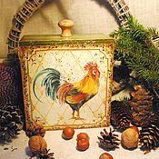 """Для дома и интерьера ручной работы. Ярмарка Мастеров - ручная работа Короб """"Петух"""". Handmade."""