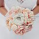 """Свадебные цветы ручной работы. Ярмарка Мастеров - ручная работа. Купить Необычный букет из брошей """"Шебби Шик"""". Handmade. Кремовый"""