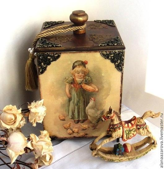 Короб для хранения Мамина помошница Алана Азарова Короб винтаж Короб украшение для кухни Купить короб в Москве