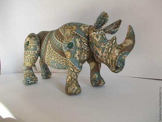 """Игрушки животные, ручной работы. Ярмарка Мастеров - ручная работа. Купить Игрушка """"Носорог"""". Handmade. Носорог, игрушка ручной работы"""