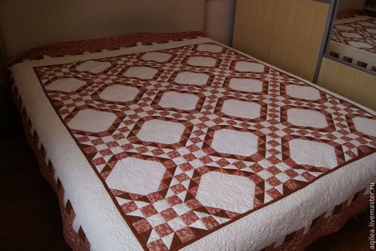 """Текстиль, ковры ручной работы. Ярмарка Мастеров - ручная работа. Купить одеяло """"Грильяж"""". Handmade. Разноцветный, подарок"""