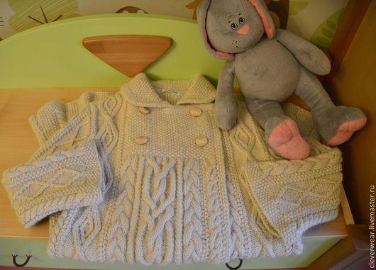 """Одежда для девочек, ручной работы. Ярмарка Мастеров - ручная работа. Купить Детское пальто - модель """"Цветок""""(Blаth). Handmade. Белый"""