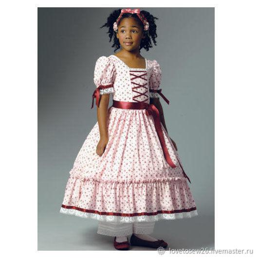 Sewing Pattern Civil War Dress Costume Child Girl 1860 B5900 Shop