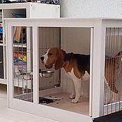 """Для домашних животных, ручной работы. Ярмарка Мастеров - ручная работа Деревянная клетка-тумба """"Белая"""". Handmade."""