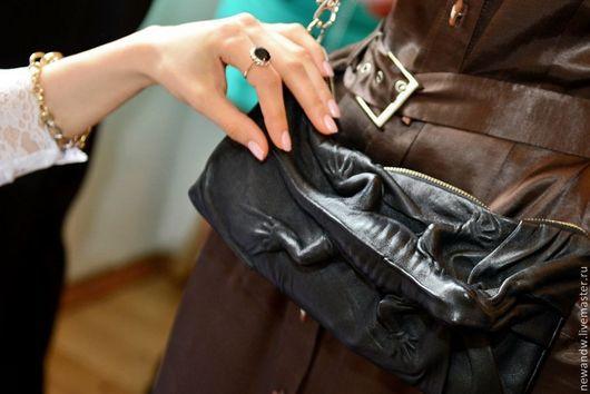 """Женские сумки ручной работы. Ярмарка Мастеров - ручная работа. Купить 3D Сумка из натуральной кожи """"Чёрная ящерица"""". Handmade."""