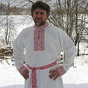 Русский стиль ручной работы. Ярмарка Мастеров - ручная работа Традиционная праздничная рубаха. Handmade.