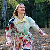 """Одежда ручной работы. Ярмарка Мастеров - ручная работа Пальто """"Жизнь в красках"""". Handmade."""