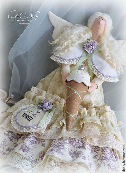 Куклы Тильды ручной работы. Ярмарка Мастеров - ручная работа. Купить Тильда Мисс Ваниль. Handmade. Кремовый, фея мороженого