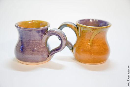 Кружки и чашки ручной работы. Ярмарка Мастеров - ручная работа. Купить В наличии: Кофейная пара. Handmade. Разноцветный, песочный