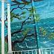 Фрагмент панно `Средиземноморье` роспись Шесть внутренних окон и рама Размеры: 120х110 см Художник: Екатерина Макарова
