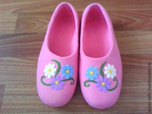 Обувь ручной работы. Ярмарка Мастеров - ручная работа. Купить Валяные тапочки. Handmade. Валяные тапочки, валяные тапочки шерстяные