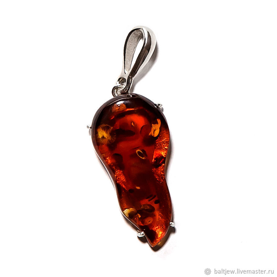 Pendants handmade. Livemaster - handmade. Buy Silver pendant with amber 'Serenade'.Amber, amber kaliningrad, pendant with amber
