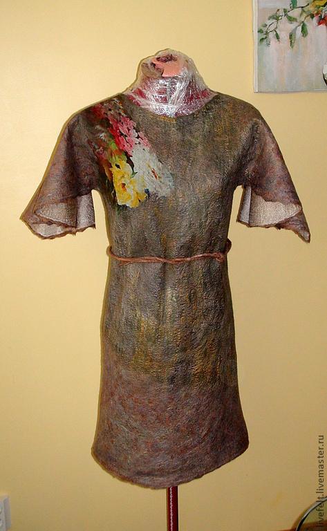 Платья ручной работы. Ярмарка Мастеров - ручная работа. Купить Валяное  платье. Handmade. Жакет, цветочный, валяный, Коктейльное платье