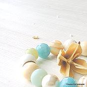 """Украшения ручной работы. Ярмарка Мастеров - ручная работа Сет из браслетов """"Морская акварель"""". Handmade."""