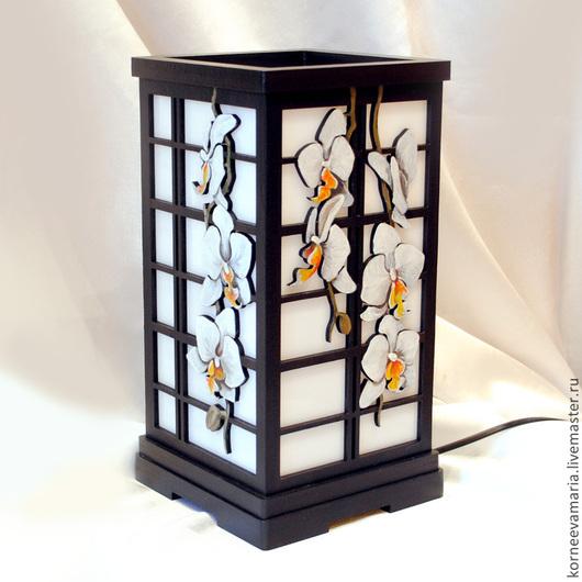 Освещение ручной работы. Ярмарка Мастеров - ручная работа. Купить Настольная лампа «Орхидеи». Handmade. Орхидея, ночник, светильник