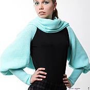 Одежда ручной работы. Ярмарка Мастеров - ручная работа Шарф-свитер безразмерный, шарф с рукавами для любой фигуры! Цвета любы. Handmade.