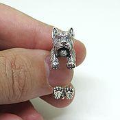Украшения handmade. Livemaster - original item Silver Westie Ring, West Highland White Terrier Ring. Handmade.