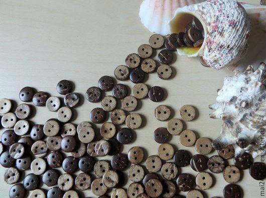 Шитье ручной работы. Ярмарка Мастеров - ручная работа. Купить Пуговицы кокосовые 10 мм. Handmade. Купить пуговицы