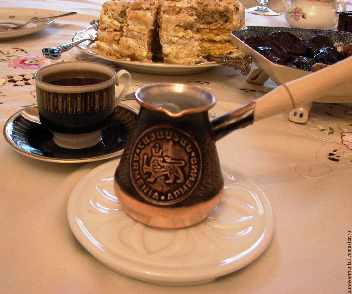 Турка медная джезва Армянская ручная работа кофеварка на 1 чашку 110мл, Утварь, Ереван,  Фото №1