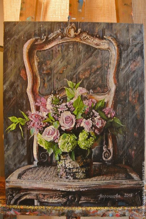 """Картины цветов ручной работы. Ярмарка Мастеров - ручная работа. Купить """"Сюрприз"""". Handmade. Разноцветный, холст"""