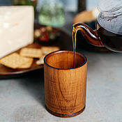 Посуда handmade. Livemaster - original item Glass for drinks made of natural Siberian Cedar wood #C25. Handmade.