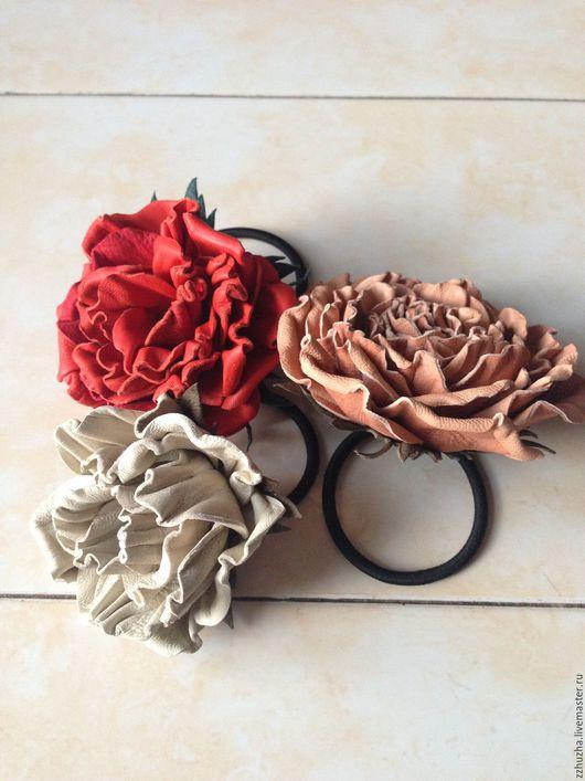 Заколки ручной работы. Ярмарка Мастеров - ручная работа. Купить Цветок, украшение для волос, резинка.. Handmade. Заколка для волос, разноцветный