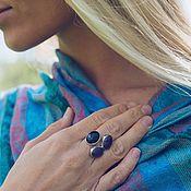 Украшения handmade. Livemaster - original item Triple ring with amethysts. Handmade.