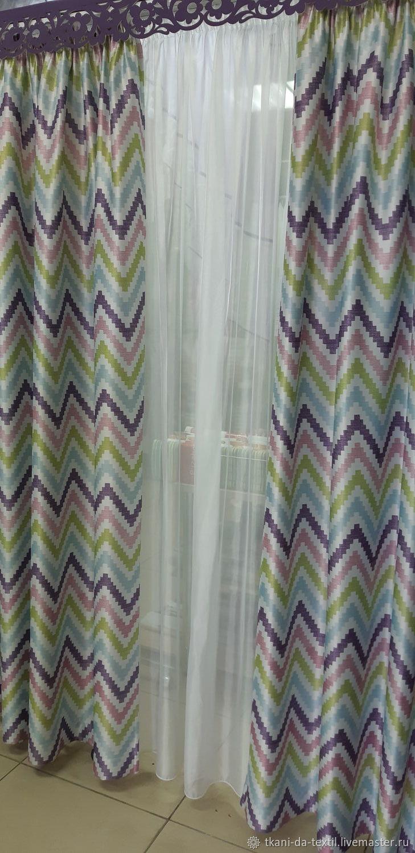 Текстиль, ковры ручной работы. Ярмарка Мастеров - ручная работа. Купить Комплект готовых штор блэкаут двухсторонний Китай. Handmade.